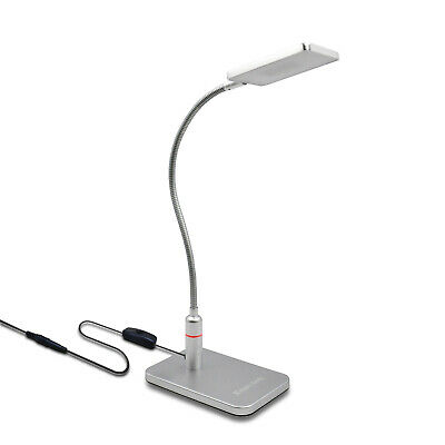 Lampara de LED Escritorio Sobremesa Lectura Oficina LED Regulable Tactil Plata