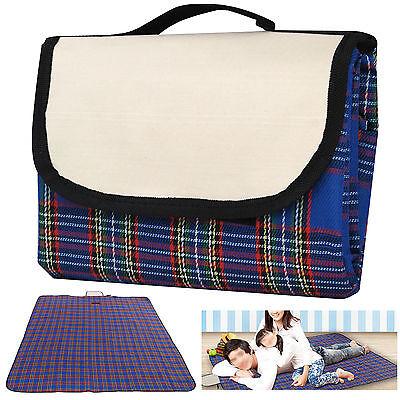 Extra Large Waterproof Picnic Blanket Rug Travel Pet/Dog Caravan Camping Fleece