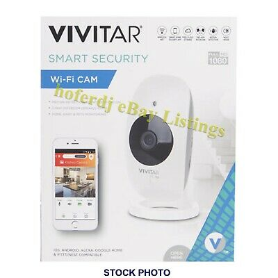 Vivitar 1080p HD Wi-Fi Wireless Indoor Security Camera IPC113-WHT Alexa & Google