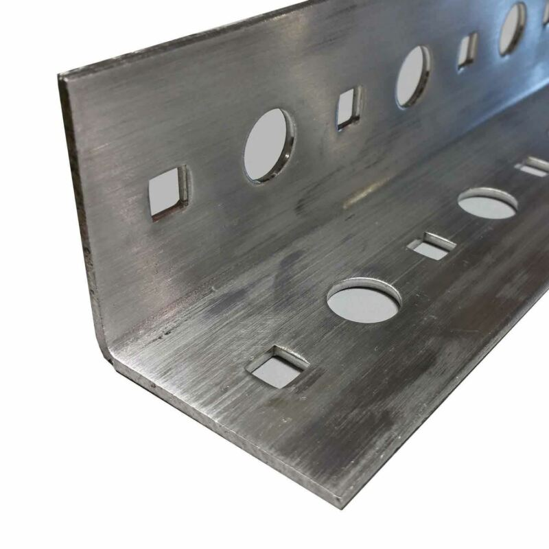 """Perforated Aluminum Angle, 2"""" x 2"""" x .100"""" x 48 inches"""