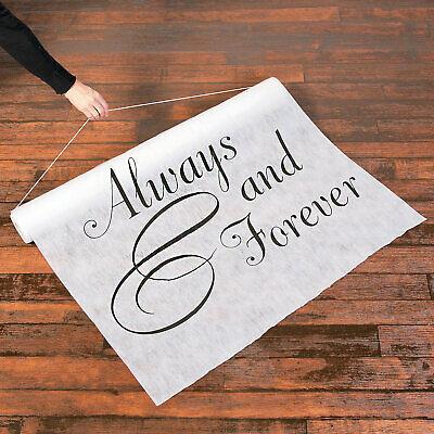 Always & Forever Wedding Aisle Runner - Ceremony Decorations - 3' x 100'