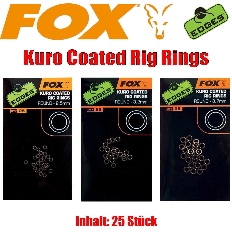 Fox Edges Kuro Coated Rig Rings - Karpfenangeln D-Rigs 25Stück - 3 Größen