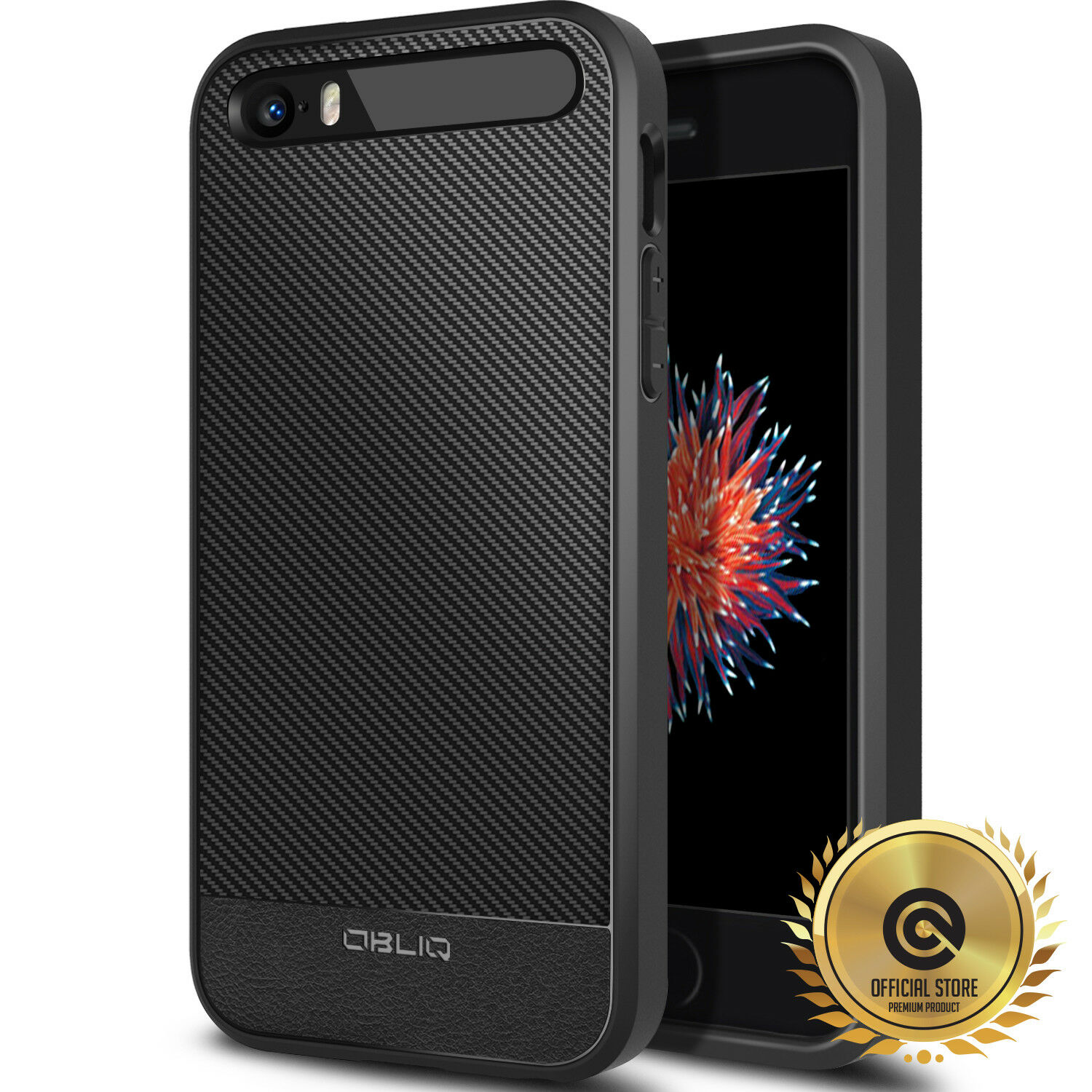 OBLIQ® iPhone SE/5s/5  Case SHOCKPROOF TPU Protective Carbo