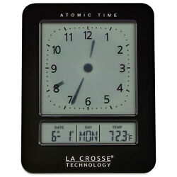 617-1392B La Crosse Technology Atomic Digital Analog-Style Dual Alarm Clock