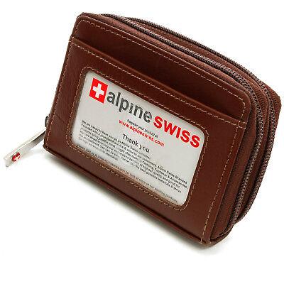 Alpine Swiss Womens Accordion Organizer Wallet Leather Credit Card Case ID Accordion Credit Card