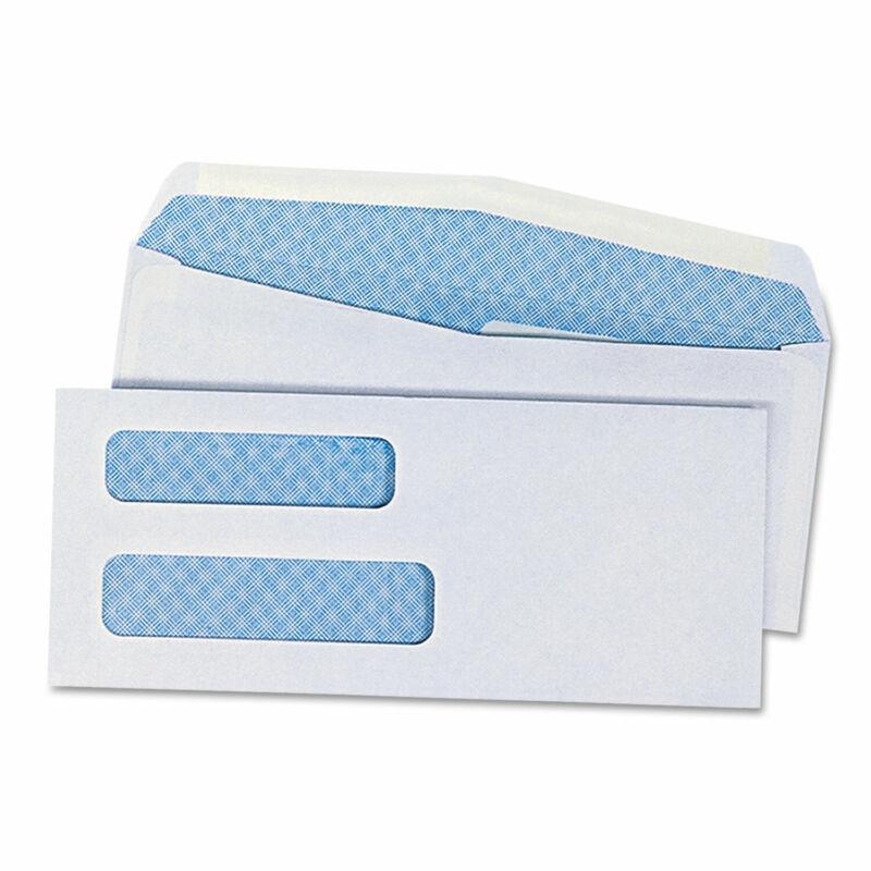 UNIVERSAL Double Window Check Envelope #8 5/8 3 5/8 x 8 5/8 White 500/Box 36300
