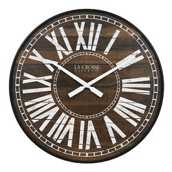 BBB81427 La Crosse Clock Co. 21 Liam Plastic Open Face Analog Wall Clock
