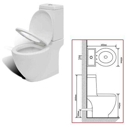 Inodoro de Suelo con Cisterna de Cerámica Blanco Váter WC Retrete Baño...