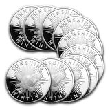 1 oz Sunshine Silver Round - Lot of 10 - SKU #81518