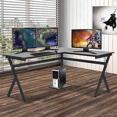 Computer Desk L-shaped Large Corner Pc Laptop Study Table Workstation Home Best