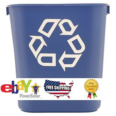 2-Pack Rubbermaid Commercial Recycling Bin Plastic Container Trash Can 13 5/8 qt
