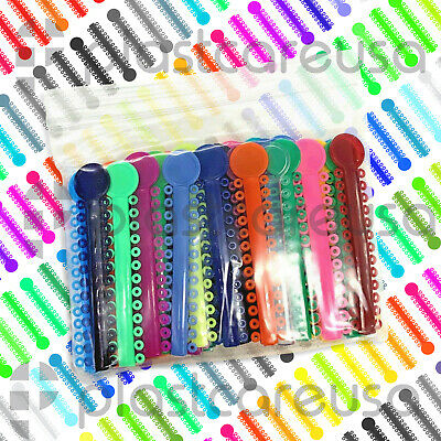 1040 Dental Ligature Rubber Ties Bands Braces Orthodontic Elastic Colored 1 Bag