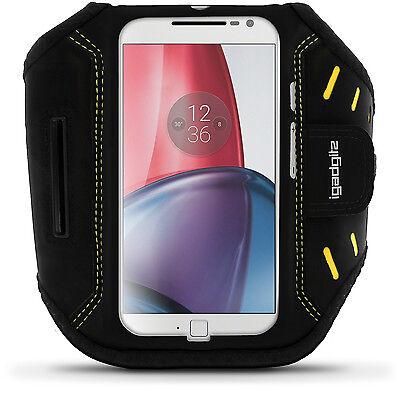 Schwarz Fitness Sports Armband für Motorola Moto G 4 Gen & G4 Plus Joggen Tasche