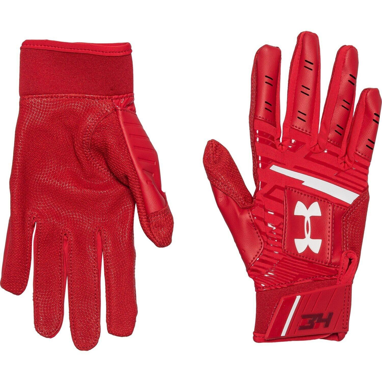 Under Armour Harper Hustle Batting Gloves YOUTH M, L, Red, B