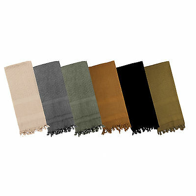 Shemagh Solid Color 100% Cotton Arab Tactical Desert Keffiyeh Scarf ROTHCO 8637