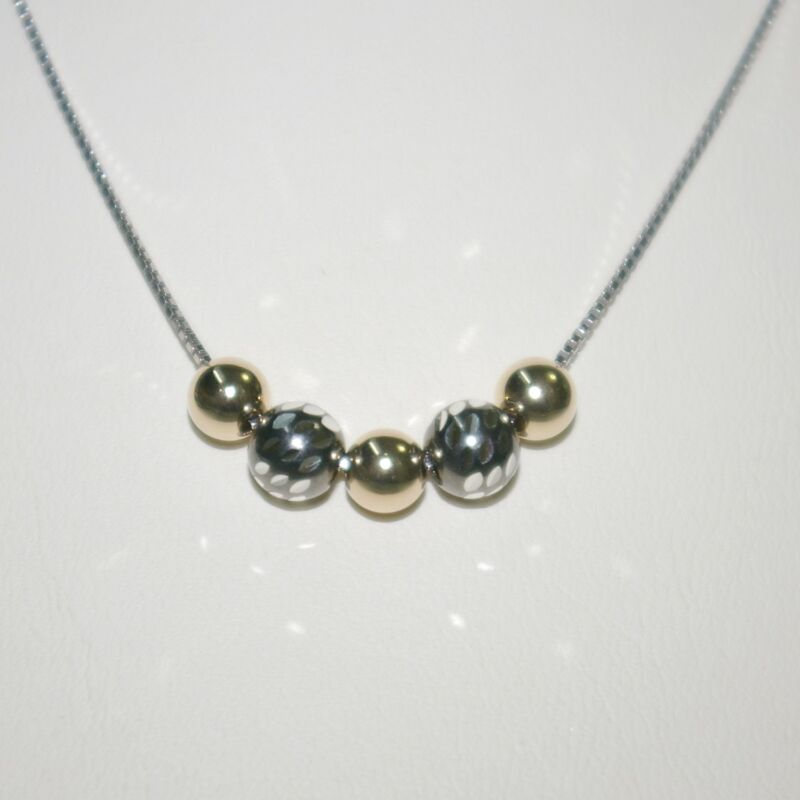 12 pcs Sterling Silver Box Chain NECKLACES & 5 pieces Silver & Gold Filled Beads