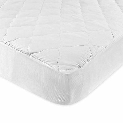 NEW Carter's Keep Me Dry Waterproof Layer Quilted Fitted Crib Pad, White