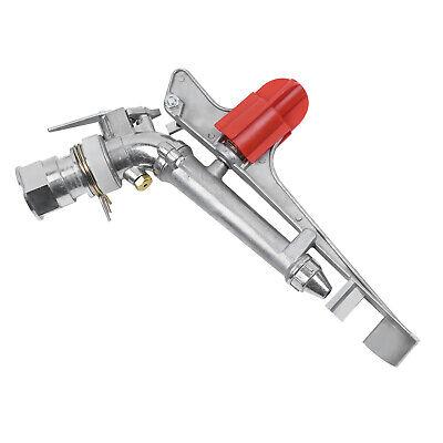 1pc Adjustable Impact Sprinkler Gun Water Irrigation Lawn Spray Gun Tool Silver