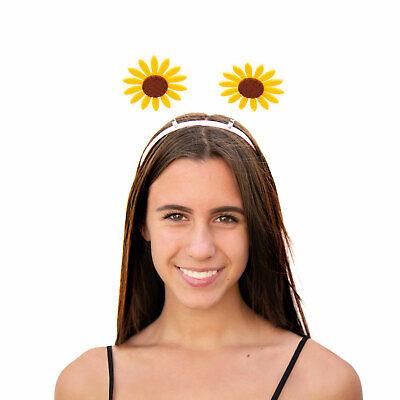 Haarreif mit Wackel Sonnenblumen Haarreifen für Karneval Fasching Motto - Gelb Motto Kostüm