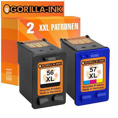2 Druckerpatronen XL für HP 56 & 57 Deskjet 5150 W PSC 1100 1110 1110 V XI 1200