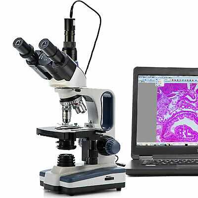 Swift 40x-2500x Trinocular Compound Microscope With 5mp Usb 2.0 Digital Camera