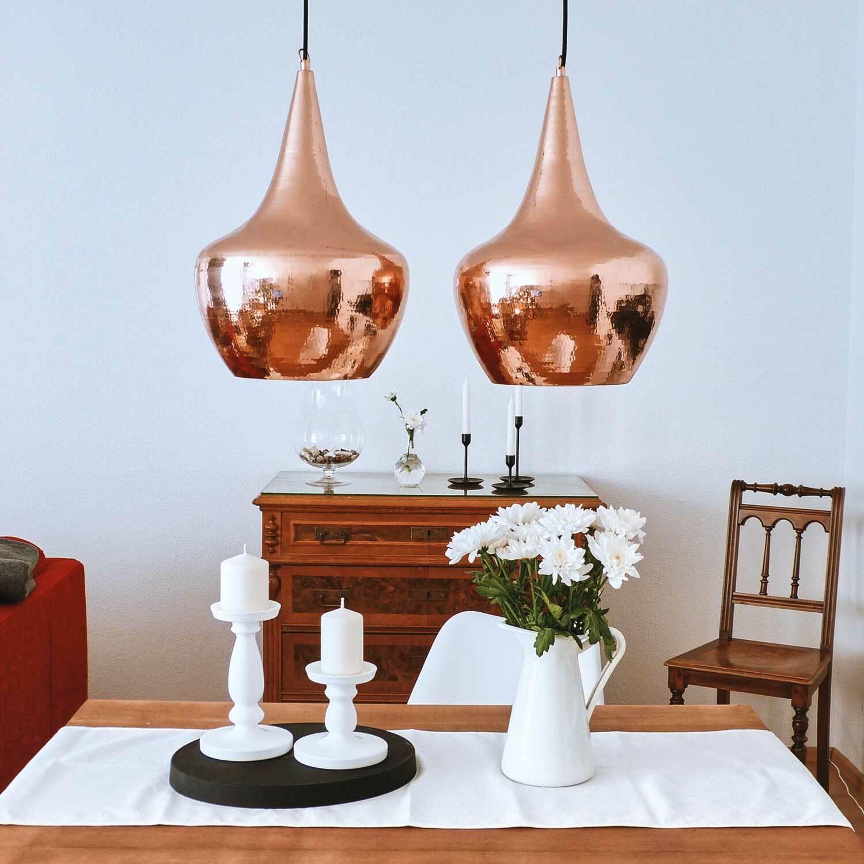 Kupfer Pendelleuchte Jokar Größe S 30x30x40 cm metallic Deckenlampe wohnfreuden