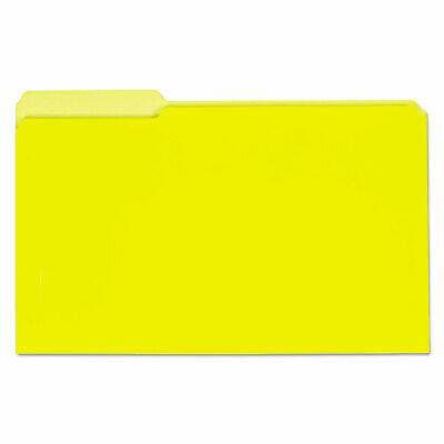 Universal Recycled Interior File Folders 13 Cut Top Tab Legal Yellow 100box