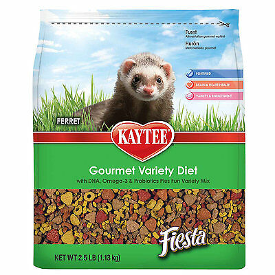 Kaytee Fiesta Gourmet Variety Diet with DHA Ferret Food, 2.5-lb bag Free Shippin ()