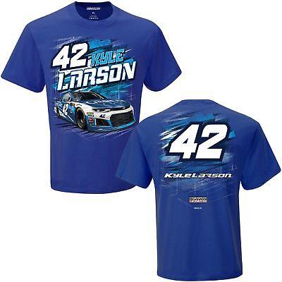 2018 Kyle Larson  42 Credit One Blue Short Sleeve Torque Tee Shirt