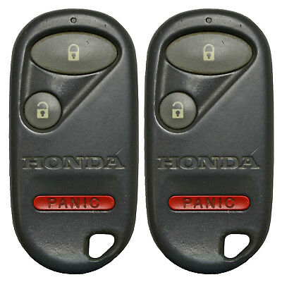 2 OEM Factory Genuine Remote Key Keyless Fob 01 2002 2003 2004 2005 Honda Civic