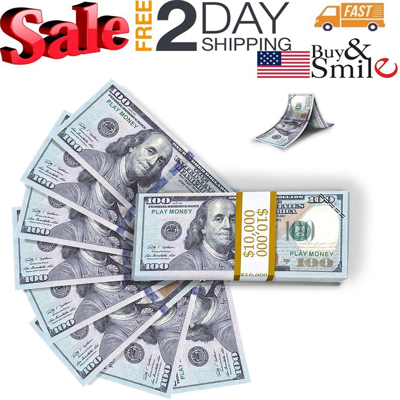 Купить Play Money Fake 100 Dollar Replica Stage Copy Bills Texas Holdem Poker Prank Toy