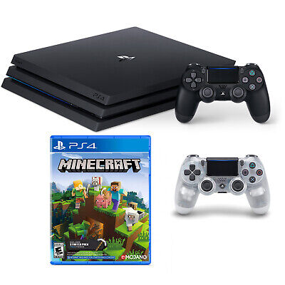 PS4 Pro W/Minecraft & Second Controller Bundle - Clear [Brand New]