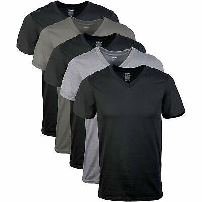 Men's Assorted V-Neck T-Shirts 5 Pack, Multi 2-DAY DELIVERY