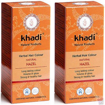 Pack of 2 Khadi Herbal Hair Colour Natural Hazel 100g each