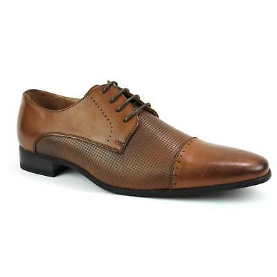 Mens Dress Shoes Cap Toe Lace Up Detailed Modern Oxfords Leather Tayno Silas NEW