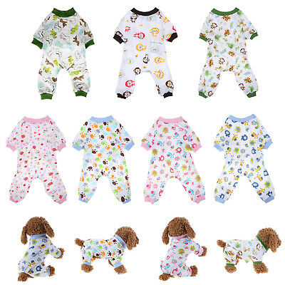 Pet Dog Cotton Sleep Jumpsuit Knitting Puppy Pajamas Pet Home Clothes Apparel