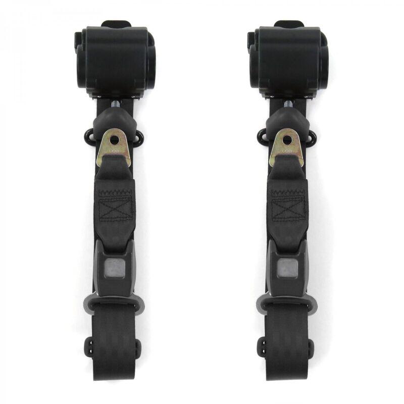 Camaro 1982 - 1992 Standard 3pt Black Retractable Bucket Seatbelt Kit - 2 Belts