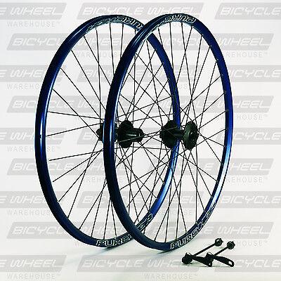 "Pure XCR Blue 26"" mountain bike wheel set, 26"",Shimano Viam M475 Disc, DT Swiss"