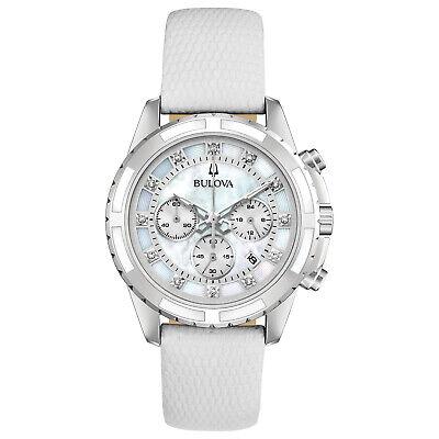 Bulova Women's Quartz Chronograph Diamond Accent Date Display 36mm Watch 96P193