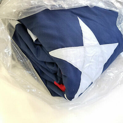 Appliqued Polyester State Flags - 25' x 40' Commercial Polyester United States Flag Sewn Stripes & Applique Stars