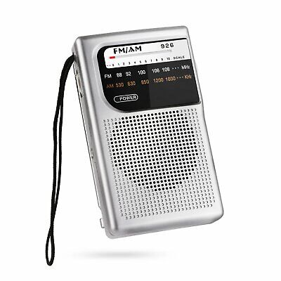 AM FM Radio, Battery Operated Radio, Portable Pocket Radio with Best (Fm Portable Radio With Best Reception)