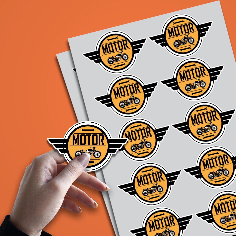 Custom die cut stickers a4 dl full no minimum quantity