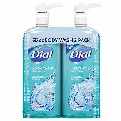 Dial Antibacterial Body Wash, Spring Water (35 fl. oz., 2 pk.) *BEST DEAL  Dial Spring Body Wash