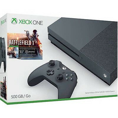 Xbox One S Battlefield 1 Special Edition Bundle Storm Grey (500GB)