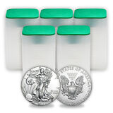 2015 1 oz Silver American Eagles (Lot of 100 oz) Five Tubes, Rolls - SKU #87766