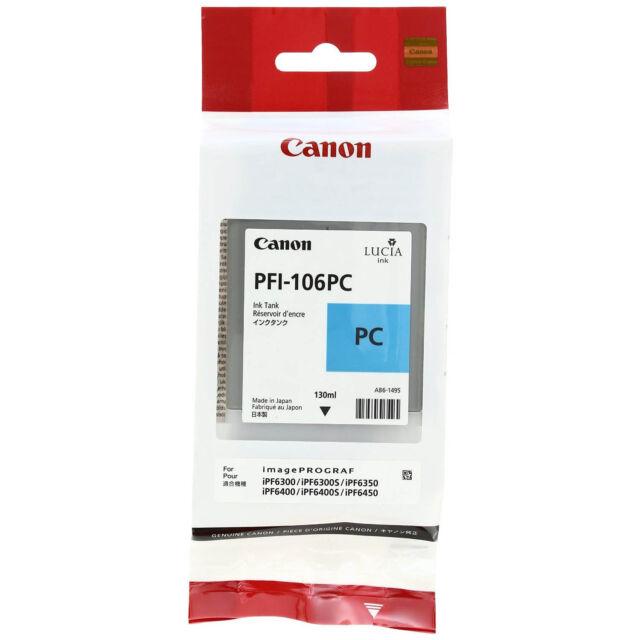 GENUINE ORIGINAL CANON PFI-106PC PHOTO CYAN INK CARTRIDGE (6625B001AA)