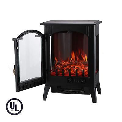 KOOLWOOM Portable Electric Fireplace Stove Heater with Thermostat