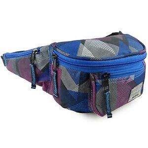 OBSESSED TOUGH PRACTICAL BUM HIP BAG HANDBAG WITH POCKETS 2.3L BLUE