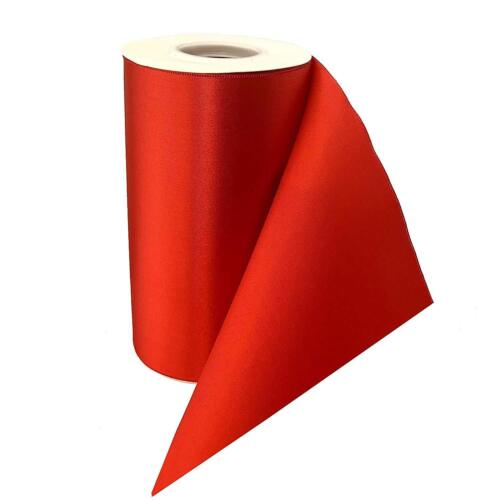 """Grand Opening Ceremony Red Ribbon - 6"""" x 25 Yards, Double Wide, Christmas"""