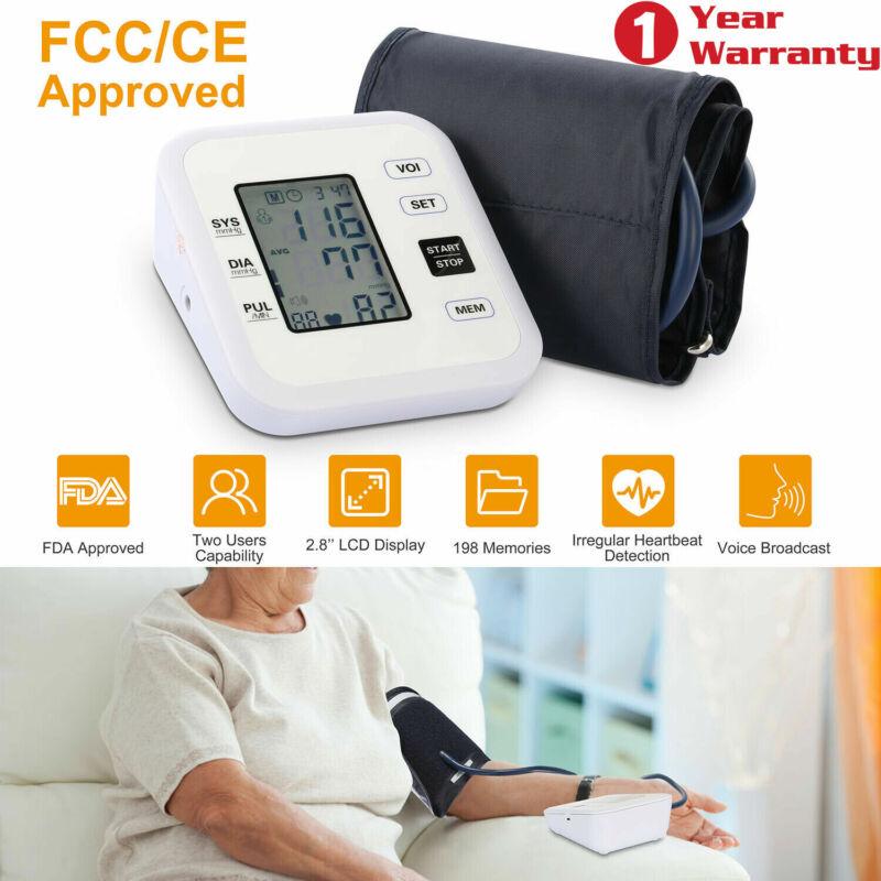 Automatic Upper Arm Blood Pressure Monitor Digital LCD BP Cuff Pulse Machine US
